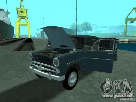 Moskvich 407 für GTA San Andreas Innenansicht