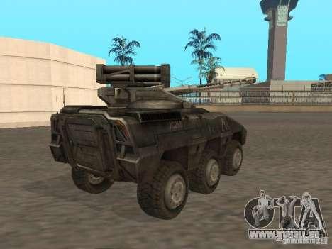 APC Anti-Air pour GTA San Andreas sur la vue arrière gauche