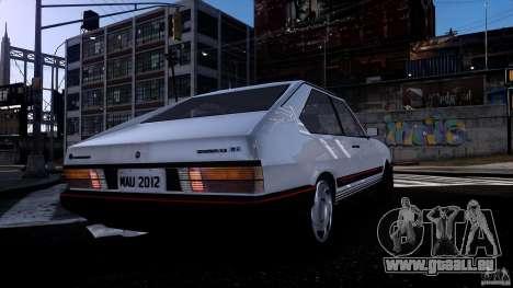 Volkswagen Passat Pointer GTS 1988 Turbo pour GTA 4 Vue arrière
