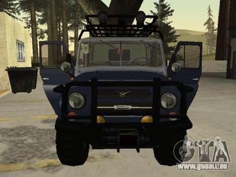 UAZ 31512 pour GTA San Andreas vue de droite