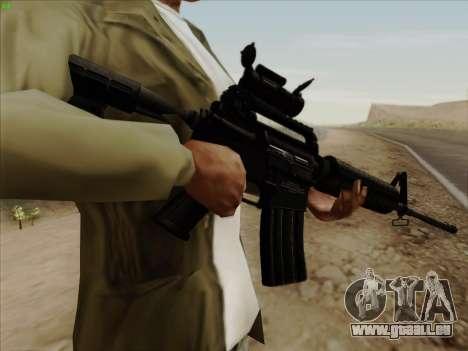Colt Commando Aimpoint pour GTA San Andreas troisième écran