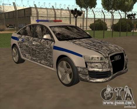 Audi RS6 2010 DPS pour GTA San Andreas vue de dessous