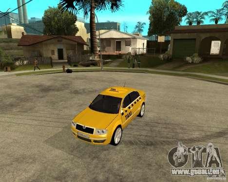 Skoda Superb TAXI cab pour GTA San Andreas laissé vue