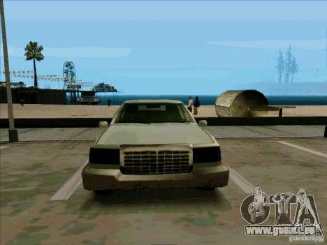 Une Limousine courte pour GTA San Andreas vue intérieure