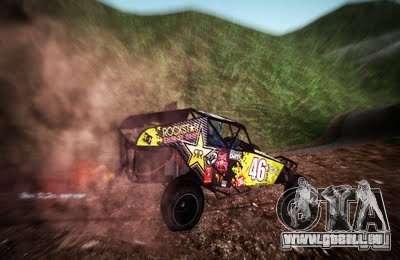 Buggy Monster-Energie für GTA San Andreas rechten Ansicht