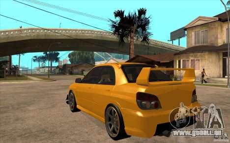 Subaru Impreza 2006 WRX STI für GTA San Andreas zurück linke Ansicht