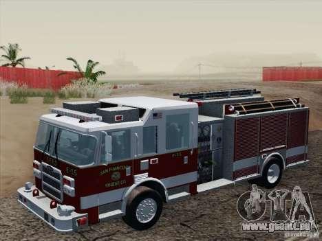 Pierce Pumpers. San Francisco Fire Departament für GTA San Andreas Innenansicht
