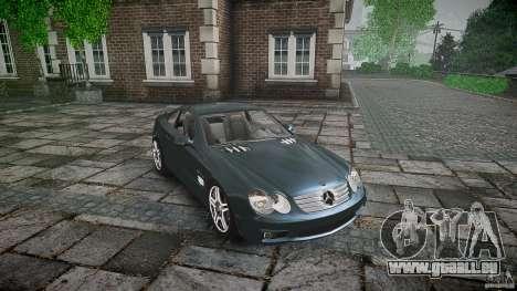 Mercedes Benz SL65 AMG V1.1 pour GTA 4 est une vue de l'intérieur