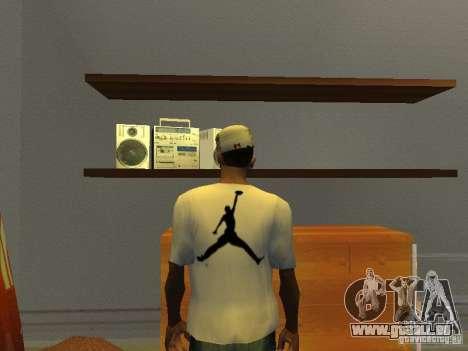 Nike Air Jordan - T-Shirt für GTA San Andreas