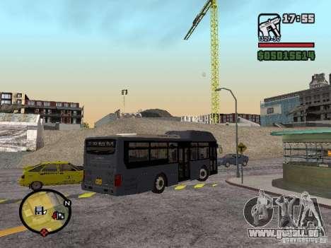 Daewoo BS110CN pour GTA San Andreas laissé vue