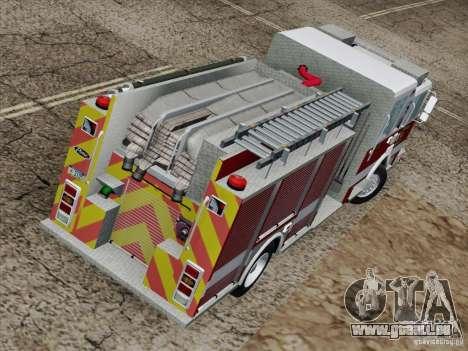 Pierce Pumpers. San Francisco Fire Departament für GTA San Andreas Seitenansicht