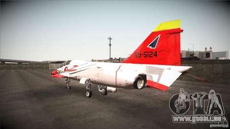 Mitsubishi T-2 für GTA San Andreas zurück linke Ansicht
