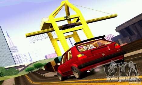 Volkswagen Golf MkII Racing pour GTA San Andreas laissé vue