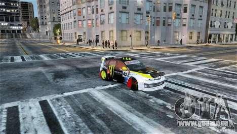 Subaru Impreza WRX STI Rallycross Monster Energy für GTA 4 rechte Ansicht