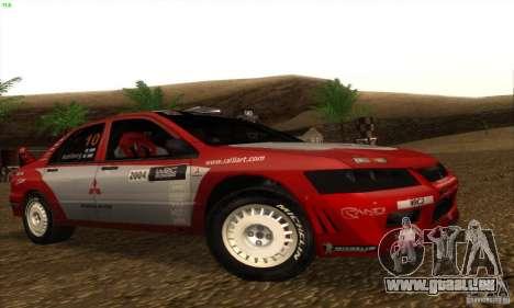 Mitsubishi Lancer Evolution VII pour GTA San Andreas laissé vue