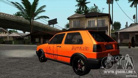 VW Golf 2 pour GTA San Andreas vue de côté