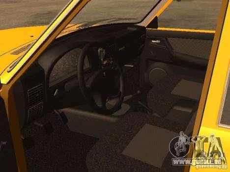 Volga GAZ-31105 Taxi pour GTA San Andreas vue intérieure