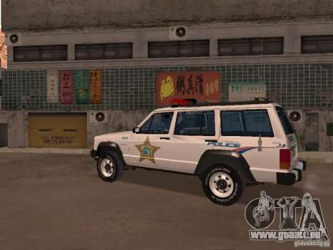 Jeep Cherokee Police 1988 für GTA San Andreas linke Ansicht