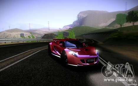 Hennessey Venom GT 2010 V1.0 pour GTA San Andreas sur la vue arrière gauche