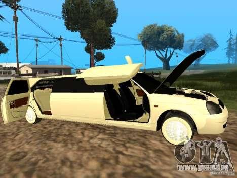 LADA Priora 2170 Limousine pour GTA San Andreas vue de droite
