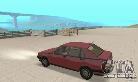 Alfa Romeo 75 pour GTA San Andreas vue de droite