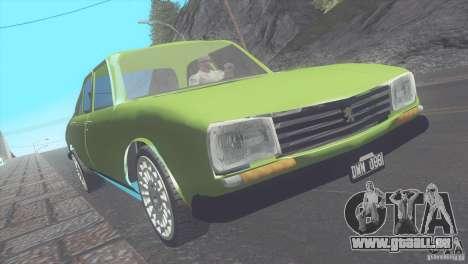 Peugeot 504 pour GTA San Andreas laissé vue