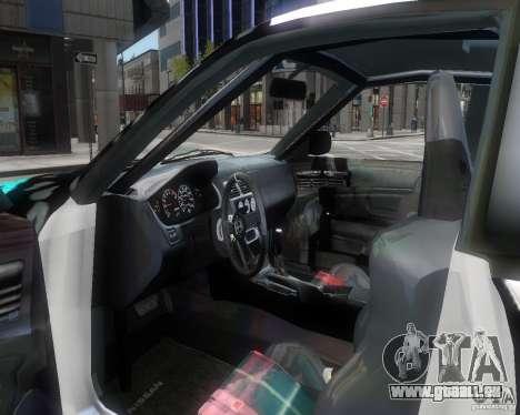 Nissan Silvia S14 Matt Formula Drift pour GTA 4 est une vue de l'intérieur