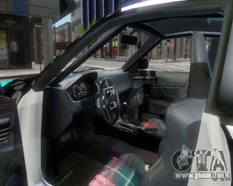 Nissan Silvia S14 Matt Formula Drift für GTA 4 Innenansicht