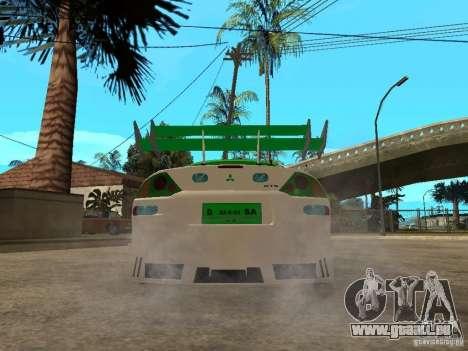 Mitsubishi Eclipse Midnight Club 3 DUB Edition pour GTA San Andreas sur la vue arrière gauche