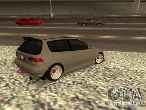 Honda Civic EG6 JDM pour GTA San Andreas laissé vue