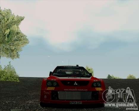 Mitsubishi Lancer Evolution VIII WRC pour GTA San Andreas vue intérieure