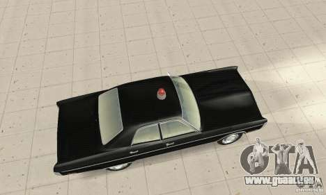 Plymouth Fury III Police für GTA San Andreas zurück linke Ansicht