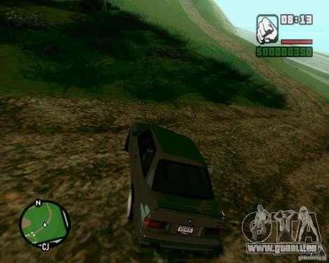 BMW M3 E30 Sport Evolution pour GTA San Andreas laissé vue