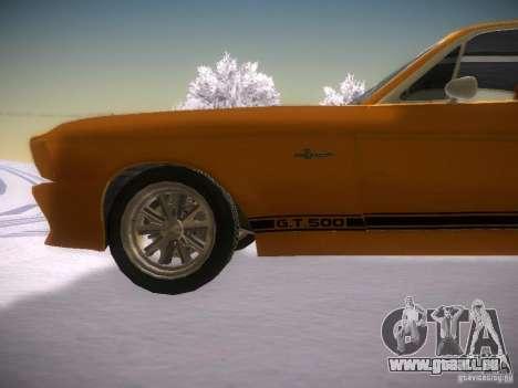 Shelby GT500 Eleanor pour GTA San Andreas laissé vue