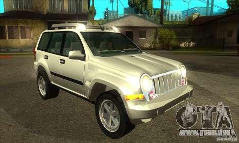 Jeep Liberty 2007 für GTA San Andreas Rückansicht