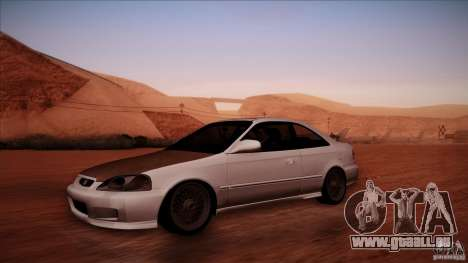 Honda Civic Coupe Si Coupe 1999 pour GTA San Andreas