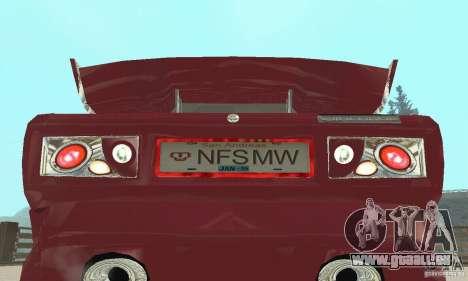 VAZ 2107 Ex Tuning pour GTA San Andreas vue arrière