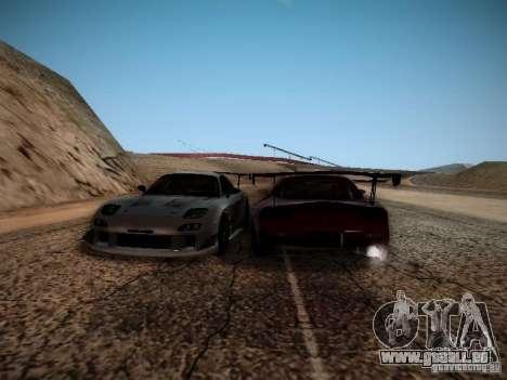Mazda RX7 Drift für GTA San Andreas Rückansicht