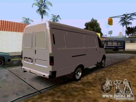 Gazelle 2705 1994 für GTA San Andreas zurück linke Ansicht