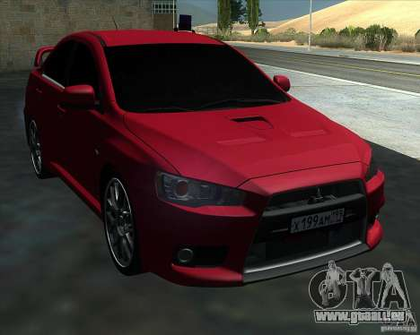 Mitsubishi Lancer Evolution X MR1 v2.0 für GTA San Andreas