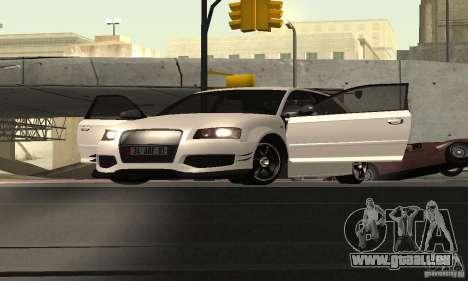 Audi S3 Full tunable pour GTA San Andreas vue arrière