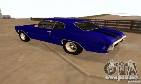 Chevrolet Chevelle SS 1970 pour GTA San Andreas vue de dessus