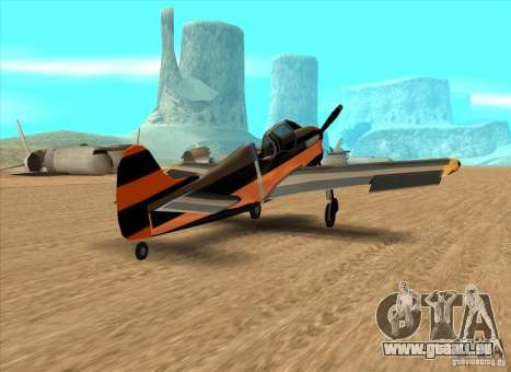 New Rustler pour GTA San Andreas sur la vue arrière gauche