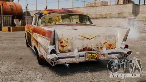Chevrolet Bel Air 1957 Rusty pour GTA 4 Vue arrière de la gauche