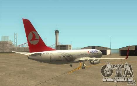 Boeing 737-800 THY für GTA San Andreas rechten Ansicht