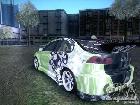 Mitsubishi Lancer Evolution X - Tuning für GTA San Andreas linke Ansicht