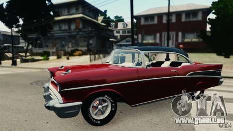 Chevrolet Bel Air Hardtop 1957 Light Tun für GTA 4 linke Ansicht