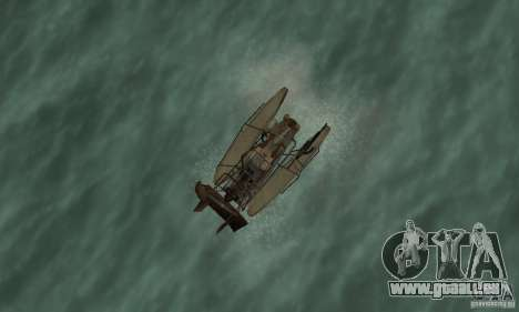HL2 Airboat pour GTA San Andreas vue de droite