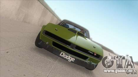 Dodge Charger RT SharkWide pour GTA San Andreas vue intérieure
