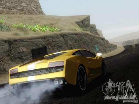Lamborghini Gallardo LP640 Vallentino Balboni pour GTA San Andreas laissé vue